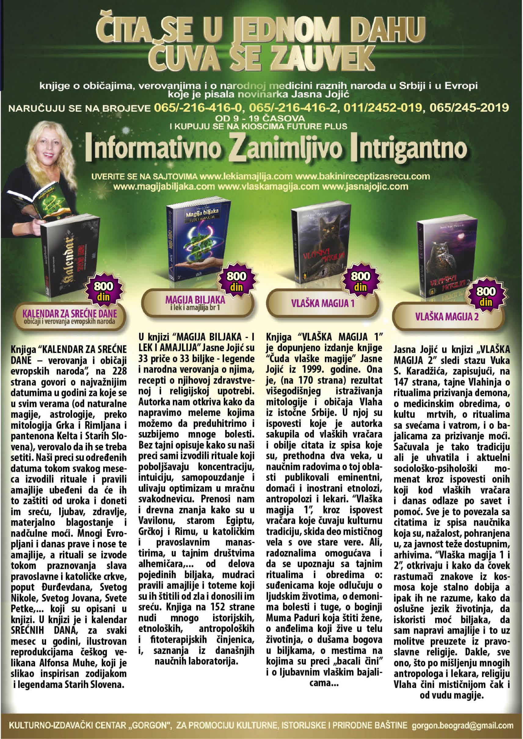 knjige Jasne Jojič naručite na telefon 065 216 416 0